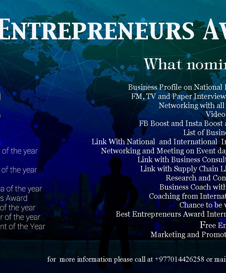 Global Best Entrepreneurs Award- Nominee
