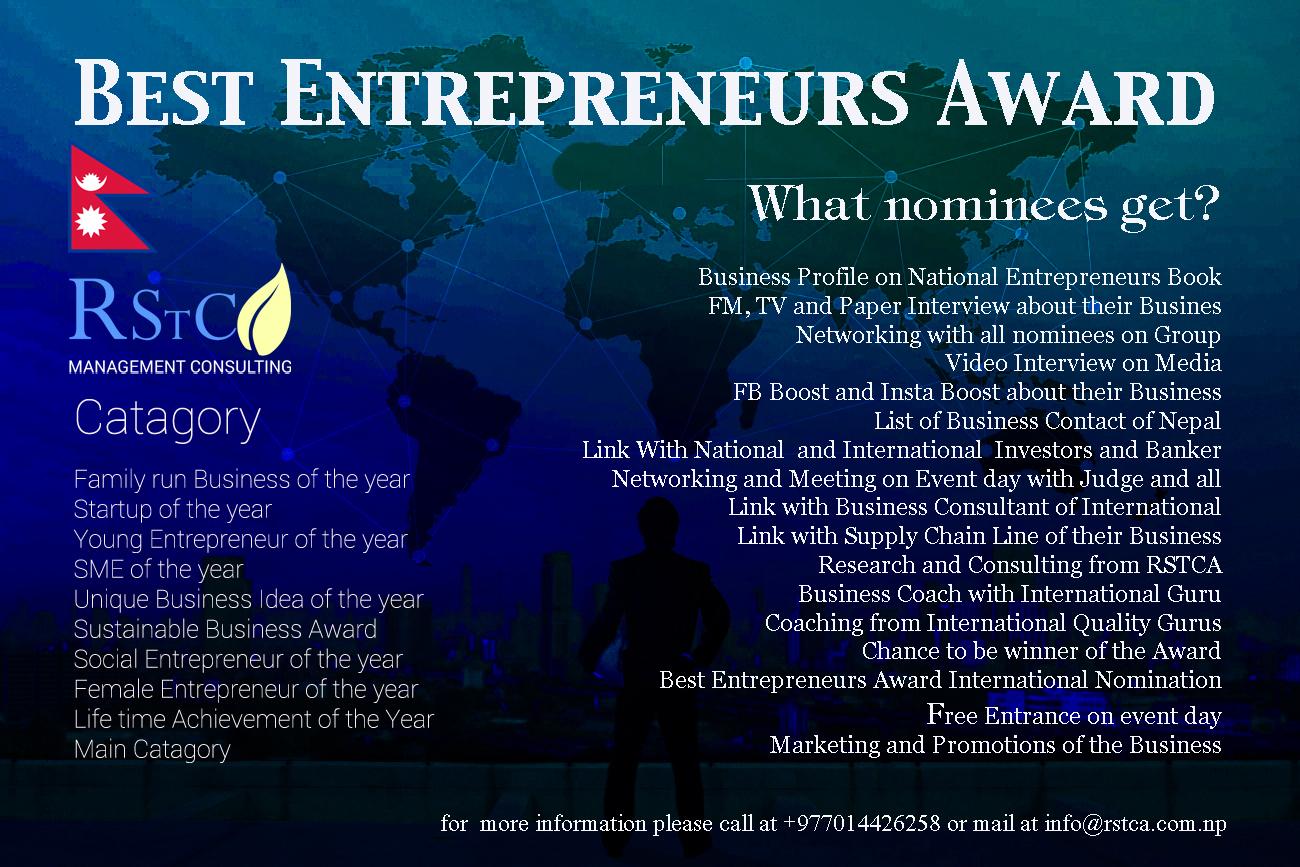Global Best Entrepreneurs Award- Nominee – Business Blog